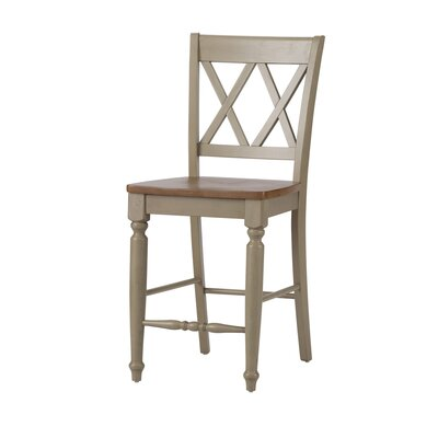 Al Fresco 23.5 Bar Stool (Set of 2) Frame Finish: Taupe