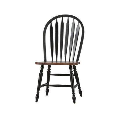 Low Country Side Chair (Set of 2) Finish: Anchor Black with Suntan