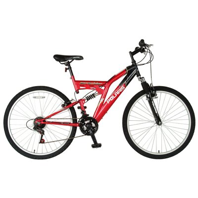 "Polaris Men's Scrambler 26"" Dual Suspension Mountain Bike"