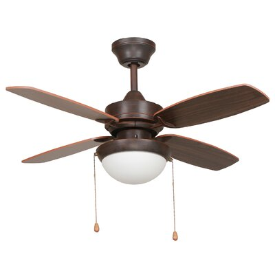 36 Ashley 4 Blade Ceiling Fan Finish: Oil Rubbed Bronze Finish Image