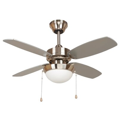 36 Ashley 4-Blade Ceiling Fan Finish: Bright Brush Nickel