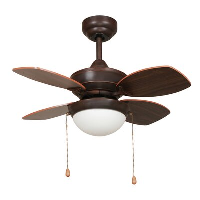 Image of 28 Hurricane 4 Blade Ceiling Fan Finish: Oil Rubbed Bronze