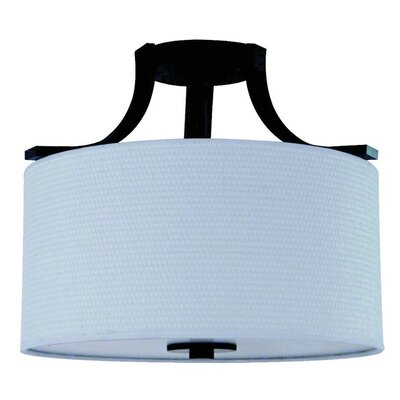 Panorama Trail 3 Light Semi Flush Mount Finish: Ebony Bronze