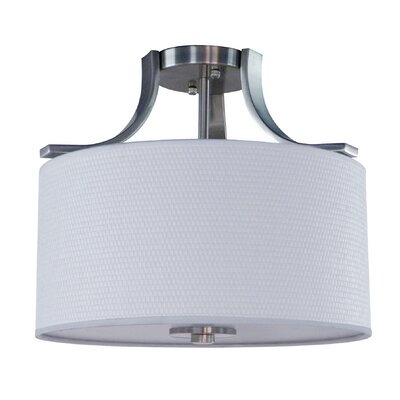 Panorama Trail 3 Light Semi Flush Mount Finish: Satin Steel
