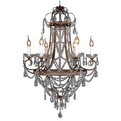 Pimpernel 6-Light Crystal Chandelier