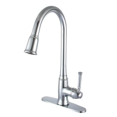 Single Handle Deck Kitchen Faucet Finish: Polished Chrome