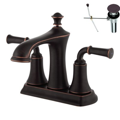 Double Handle Centerset Bathroom Faucet Finish: Bronze, Optional Accessories: With Drain