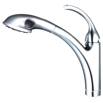 Single Handle Single Hole Kitchen Faucet with Pull-out Spout Sprayer Finish: Polished Chrome