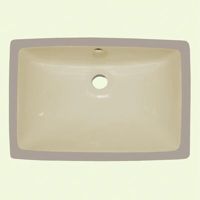Ceramic Rectangular Drop-In Bathroom Sink Sink Finish: Ivory/Beige