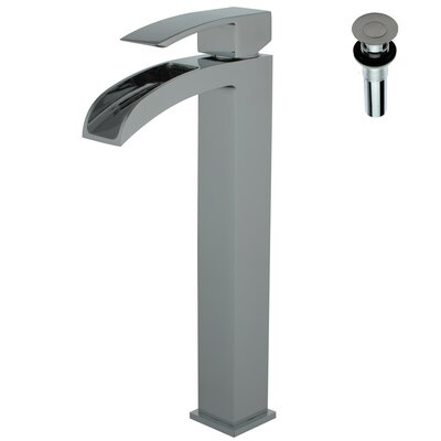 Single Handle Deck Mount Lavatory Faucet Finish: Brushed Nickel