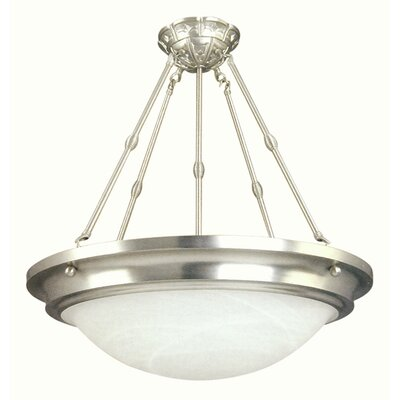 Diana 5-Light Bowl Pendant Finish: Satin Nickel