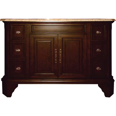 48 Single Bathroom Vanity Set Base Finish: Brown Birch