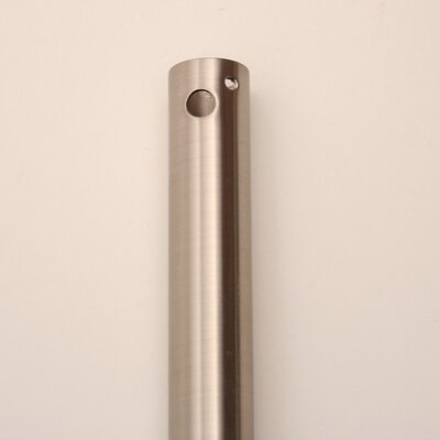 Ceiling Fan Downrod Finish / Height: Brushed Steel / 12