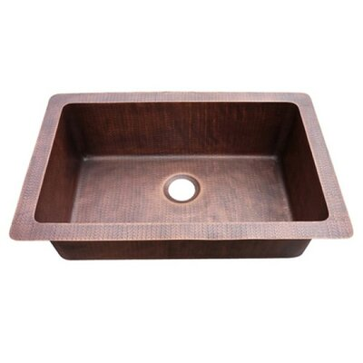 9.5 x 33 Farmhouse Copper Kitchen Sink