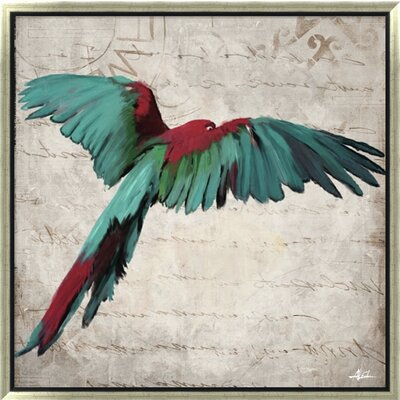 Revealed Artwork Birds in Flight I Painting Print on Wrapped Canvas DCF1309A