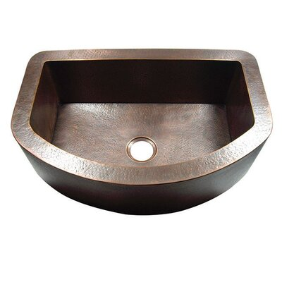 33 x 22 Hammered Single Bowl Curved Farmhouse Kitchen Sink