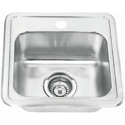 Topmount Single Bowl 15 x 15 1 Basin Bar Sink