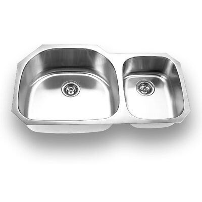 37.63 x 20.88 Undermount Double Bowl Kitchen Sink