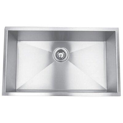 32 x 18.88 Undermount Single Square Bowl Kitchen Sink