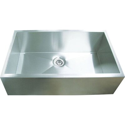 31.88 x 20.38 Single Square Bowl Straight Farmhouse Kitchen Sink