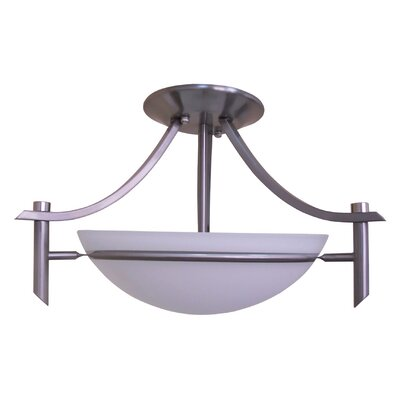 Sierra Point 2-Light Semi Flush Mount