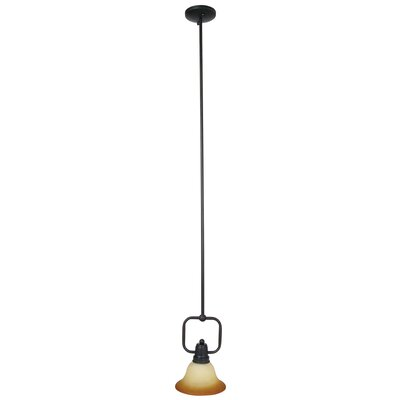 Bridal Veil 1-Light Mini Pendant Finish / Glass Shade: Venetian Bronze / Sunset Alabaster