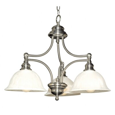 Broadleaf 3-Light Shaded Chandelier Finish: Satin Nickel