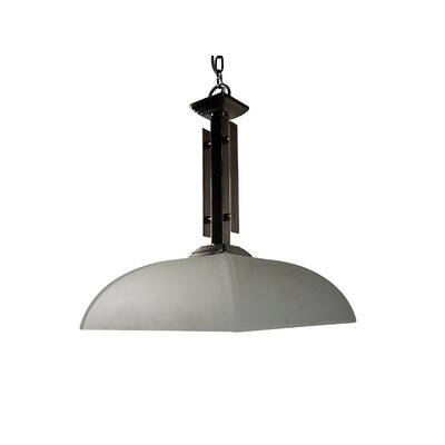 Half Dome 1-Light Bowl Pendant Finish / Glass Shade: Satin Nickel / White Frosted