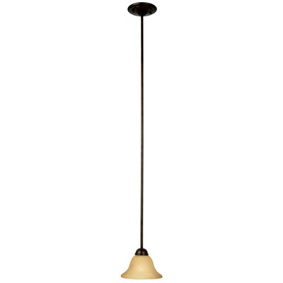 Vernal Falls 1-Light Mini Pendant Finish / Glass Shade: Venetian Bronze / Parchment Frosted