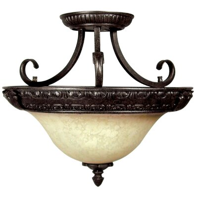 Verona 3-Light Semi Flush Mount