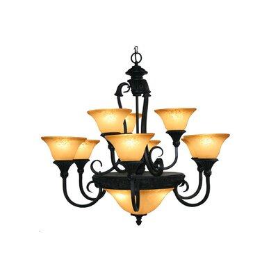 Verona 12-Light Shaded Chandelier