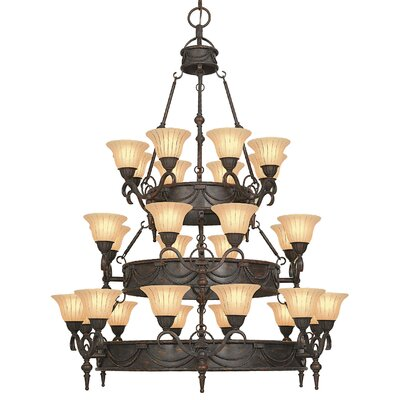 Isabella 28-Light Shaded Chandelier