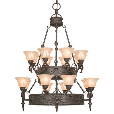 Isabella 16-Light Shaded Chandelier