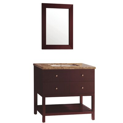 Barney 36 Single Bathroom Vanity Set with Mirror
