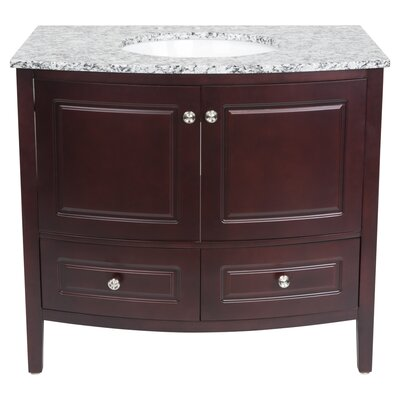 Barnhardt 36 Single Bathroom Vanity Set Base Finish: Mahogany