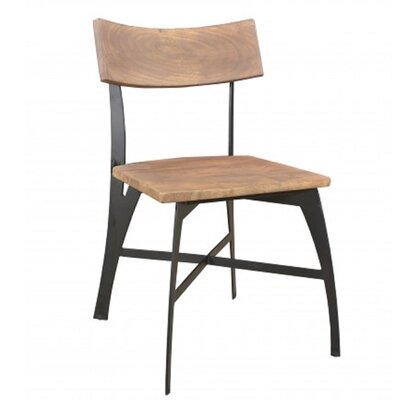 Medina Solid Wood Dining Chair Finish: Natural