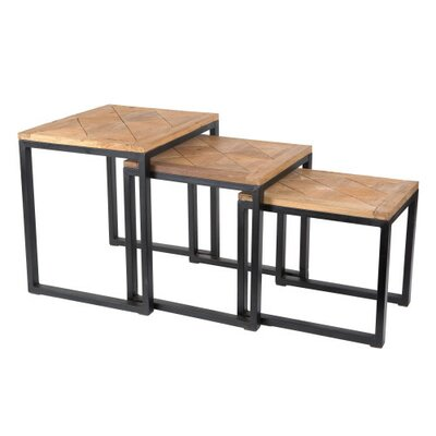 Alegra Reclaimed Teak 3 Piece Nest Tables
