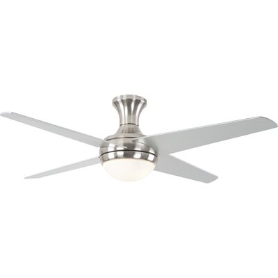 52 Lizzy 4-Blade Ceiling Fan Finish: Brushed Nickel