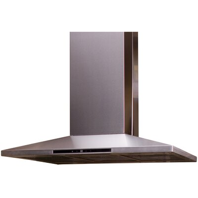 "36"" Contemporary Series 600 CFM Ducted Island Range Hood MIPH36S-4H"