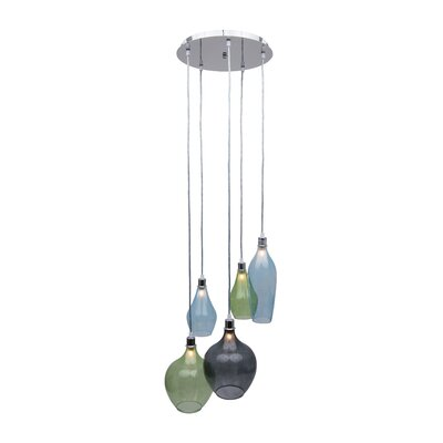 Corrales Glass 5-Light Cluster Pendant