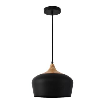 Way Wick 1-Light Bowl Shade Inverted Pendant