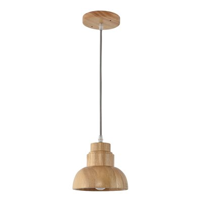 Warne 1-Light Min Pendant Size: 6.5 H x 6.7 W x 6.7 D
