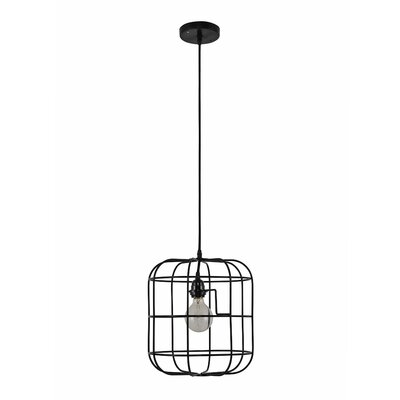 Georgianne Caged 1-Light Mini Pendant Shade Color: Black