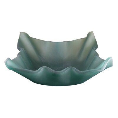 Jade Shell Glass Vessel Bathroom Sink