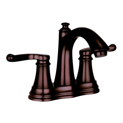 Faucets Centerset Double Handle Bathroom Faucet Finish: Oil Rubbed Bronze