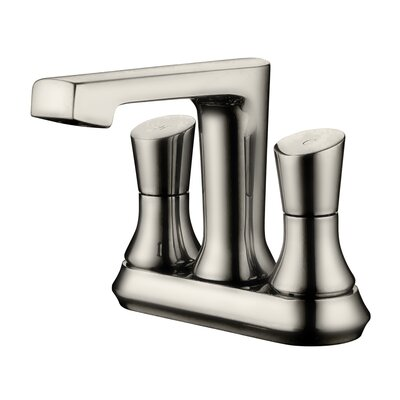 Two Handle Centerset Bathroom Faucet Finish: Brushed Nickel