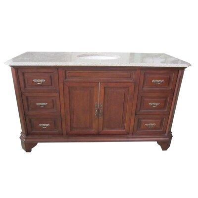 Traditional 60 Single Bathroom Vanity Set Base Finish: Brown