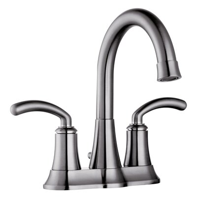Faucets 2 Handle Centerset faucet Standard Bathroom Faucet with Pop-Up Drain and Double Handle Finish: Brushed Nickel