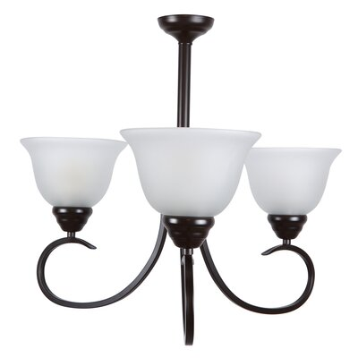 Gibson 3-Light Shaded Chandelier Finish: Oil Rubbed Bronze