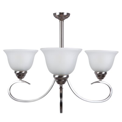 Gibson 3-Light Shaded Chandelier Finish: Satin Nickel